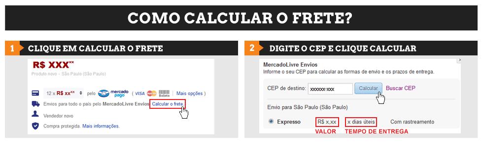 Calcule o frete do seu produto diretamente no anuncio da R2 Suprimentos